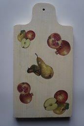 Tagliere in legno decorato