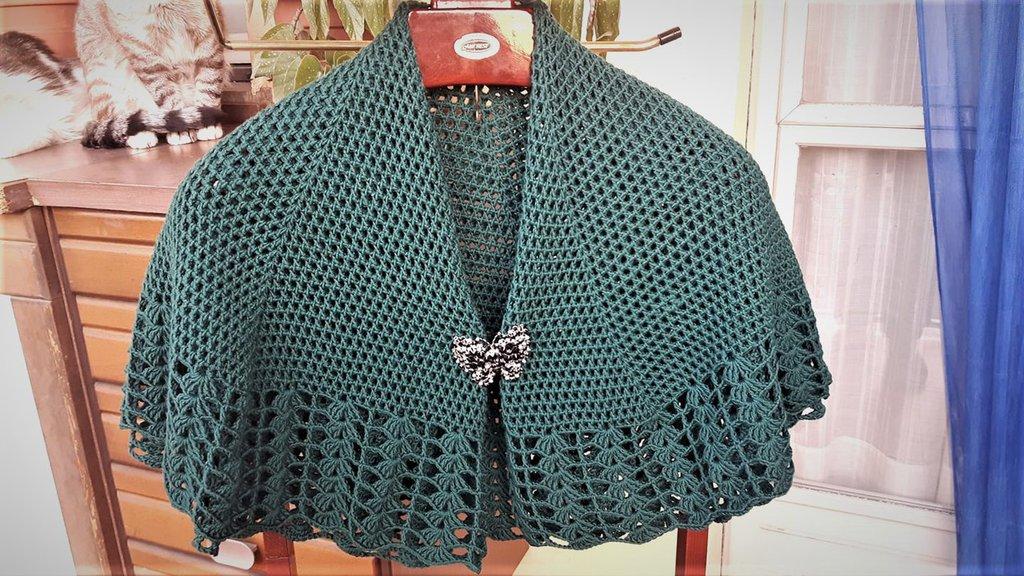Scialle Mantellina Della Nonna Donna Abbigliamento Di I La