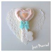 Segnaposto per matrimonio, biscotti decorati, chiave