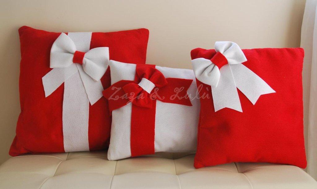 Set cuscini natalizi decorazioni addobbi natale casa for Arredamento natalizio casa