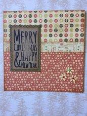 Biglietto natalizio auguri Natale quadrato stile vintage