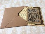 Biglietto auguri Natale quadrato piccolo stile vintage