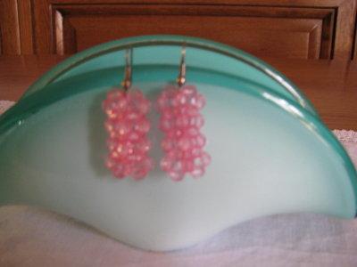 Orecchini bombati rosa