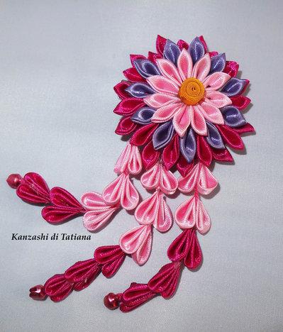 Tsumami kanzashi tradizionale 13