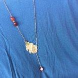 Collana in ottone foglia di autunno