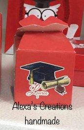 Scatolina laurea porta confetti