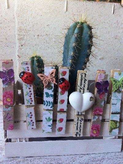 Chiudipacco decorati, mollette in legno