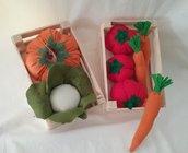 Verdura finta in cassetta