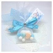 confettata nascita, segnaposto battesimo, confetti decorati, bimbo