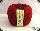 Filato Merinos, colore  rosso 1 gomitolo 50 grammi