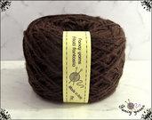Filato Merinos, colore  marrone 1 gomitolo 50 grammi