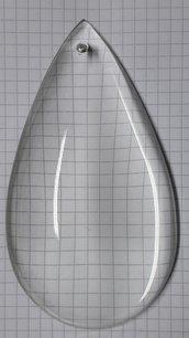 Gocce, pezzi di ricambio per lampadari di Venini e non, in vetro trasparente