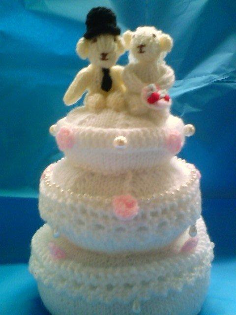 torta matrimonio a maglia
