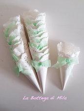 Coni Porta riso petali confetti caramelle matrimonio verde acqua tiffany, 20 pezzi