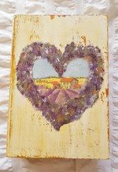 Portalibro in legno, portaoggetti, scatola, portadocumenti, regalo maestra, Regalo per lei