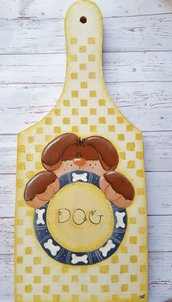 Tagliere in legno, regalo per amante cani.