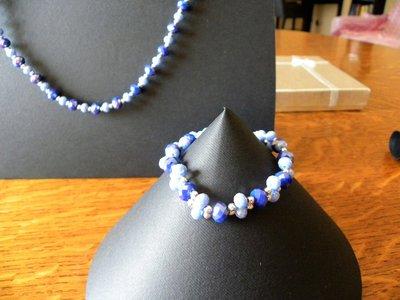 Bracciale perla blu
