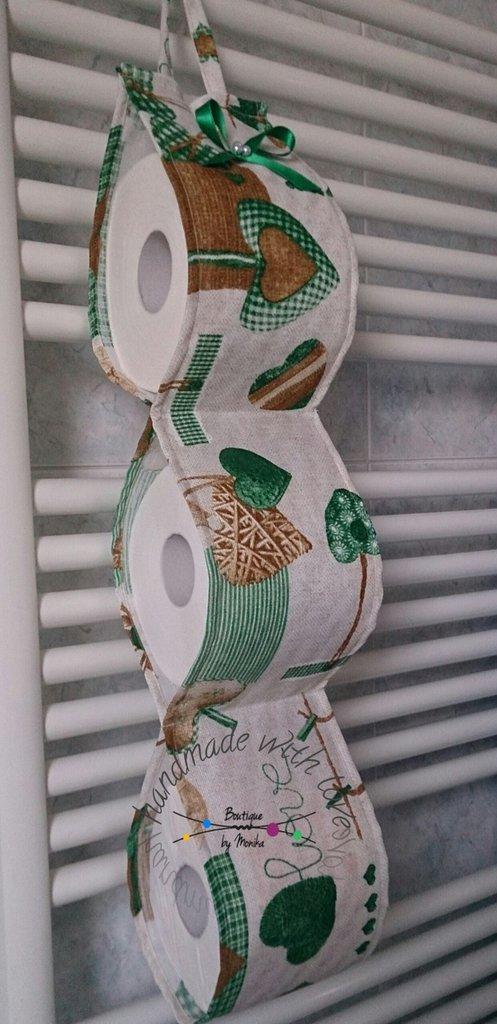 Extrêmement Portarotolo di carta igienica di scorta verde - Per la casa e per  JU71