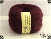 Filato Mohair, 1 gomitolo  50 grammi - colore prugna