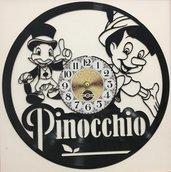 OROLOGIO DA PARETE INTAGLIATO SU DISCO IN VINILE - Pinocchio
