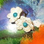 Orecchini FIORELLINI  perla turchese