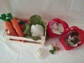 Verdura e pasta finta