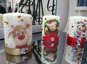 Candele personalizzate natalizie