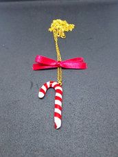 Collana lunga CANDY CANE natale