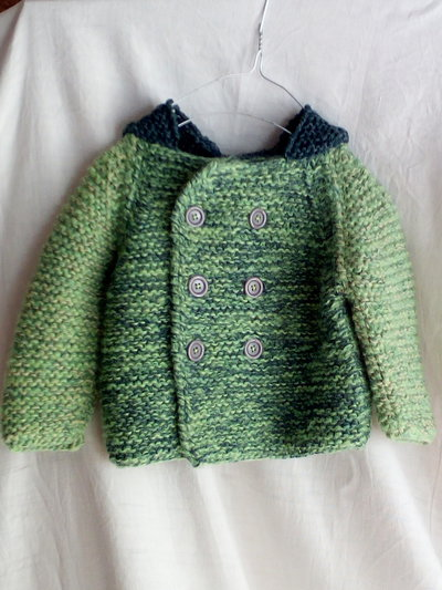 Cappotto baby, cappotto lana baby verde