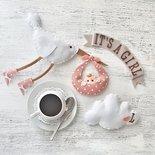 topper per baby shower ordeal per torte di pannolini ( diaper cake)