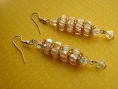 orecchini pendenti dorati