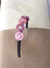 Cerchietto per capelli con bottoni
