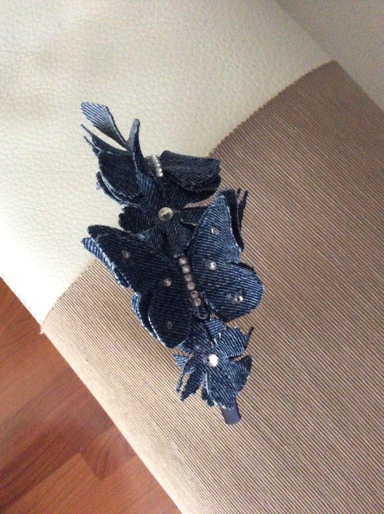 aspetto dettagliato donna comprare in vendita Cerchietto per capelli con farfalle jeans