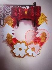 Ghirlanda natalizia realizzata a mano e personalizzabili come