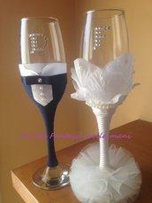 Bicchieri personalizzati matrimonio
