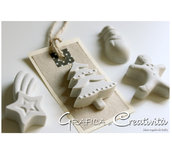 12 Christmas tags con gessetti