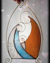 Natività stilizzata realizzata in vetro