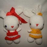 conigliette con vestitino amigurumi