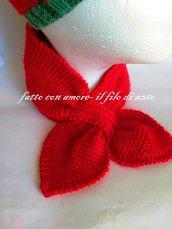 Sciarpa bambino in pura lana  rossa