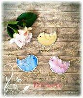 Teneri uccellini realizzati in vetro