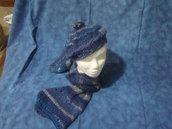 Basco+ sciarpa blu