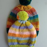 Berretto in lana con ponpon
