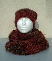 Berretta e sciarpone lana