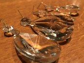 Cristalli o gocce pendenti, ricambio per lampadari di Venini e non, in vetro di Murano