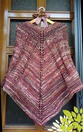 Poncho lana marroncino