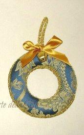 Decorazione natalizia ghirlanda in seta di San Leucio