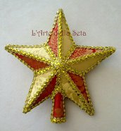 Puntale stella in seta di San Leucio