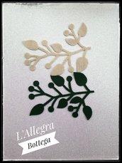 10 Ramo con Foglie-Fustellato/Decorazione/Applicazione