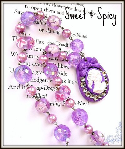 """VIVID VIOLET"" CAMMEO NECKLACE"