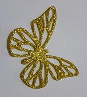 farfalla fustellata in gomma crepla glitterata